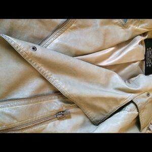 blanc noir Jackets & Coats - Blanc Noir olive leather jacket.